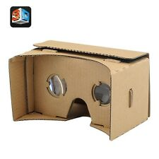 DIY 3D Google Cardboard Glasses - Mobile Phone Virtual Reality 3D Glasses.