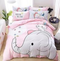 3D Cartoon Cute Elephant Rabbit KEP2245 Bed Pillowcases Quilt Duvet Cover Kay