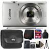 Canon Ixus 185 / Elph 180 20MP Digital Camera Silver with 64GB Accessory Bundle