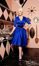 Pinup Girl Clothing PUG Couture Birdie Dress 1950s Royal Blue M