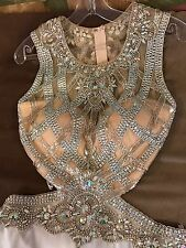 White And Silver Evening Prom/Wedding Dress Authentic Gown size 4