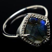 Labradorite, Cz 925 Sterling Silver Ring Size 9 Ana Co Jewelry R21126F