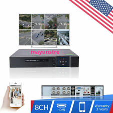 HDMI 8CH DVR H.264 Standalone Video Recorder Audio PTZ For CCTV Security Camera!