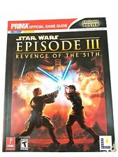 Star Wars Episode 3 III Revenge Of The Sith Official Game Guide PS2 Xbox (A12)