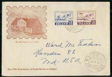 Mayfairstamps Iceland 1952 Postal Service Anniversary First Day Cover wwi98989