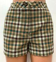 M MISSONI size IT 38 EU 34 UK 6 Checked Knitted Shorts Multicoloured Pants