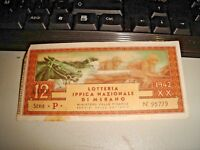 Ticket Raffle Riding National By Merano 1942
