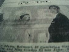 newspaper item 1969 wedding picture edward adams chester gladys jones bangor