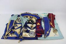 14 x Assorted Vintage Masonic Regalia Inc Aprons, Collars, Jewels, Middlesex Etc