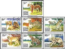 Guinea-Bissau 779-785 (kompl.Ausg.) gestempelt 1984 Raubtiere