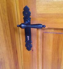 Türdrücker Paar Kotten für Haustür wie antike Türklinken und Langschild