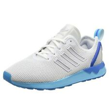 Adidas Unisex Adults Zx Flux Adv Running Shoes, White/Blue/Glow 4.5 UK 37.5 EU