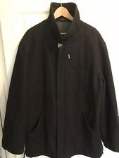 Men's BALLY 100% Wool Soft Dark Grey Coat Size Uk 44
