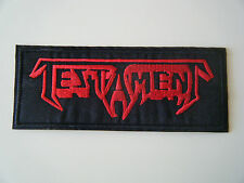 TESTAMENT PATCH Embroidered Iron On Heavy Thrash Metal Band Logo Badge NEW