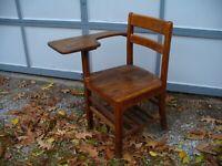Old Vintage Antique Child's School Desk Chair