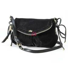 NWT-Black Authentic Juicy Couture Greta Velour Mini Crossbody Bag Purse