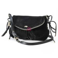 NWT-Black Authentic Juicy Couture Greta Velour Mini Crossbody Bag Purse
