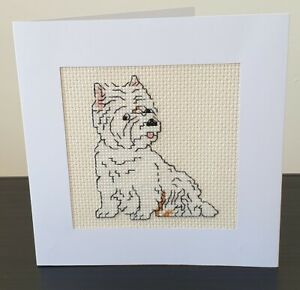 Cross Stitch Card Kit - West Highland Terrier (Westie)