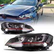 FOR VW MK7 GOLF/GTI PROJECTOR HEADLIGHTS W/ LED DRL & LED TURN SIGNAL