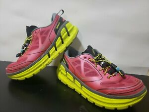 HOKA One One Women Conquest Running/Walking Pink/Yellow Shoes Size 6.5