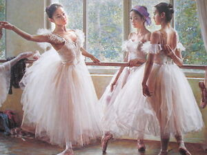 Home Decor Print Abstract Figures Ballet Dance Oil Painting Art Wall on Canvas