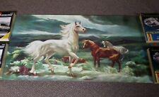 Vtg 1968 Lumen Winter Lithograph Stallion in the Moonlight Unframed 40x24 Poster