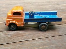 1950 Structo Toys Vintage Cast Flat Bed Tow Truck Machinery Hauling No. 607