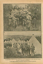 Imperial Russia Army Soldiers Camp de Mirabeau Marseille  WWI 1916 ILLUSTRATION