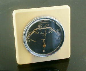 Vintage Bakelite Desk or Wall Mounted Rototherm Thermometer