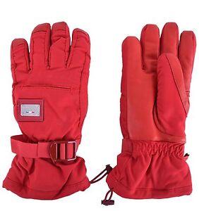 Dolce & Gabbana Ski Logo Gloves Red Gants Red 04221
