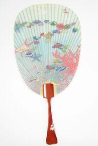 """Japanese traditional paper fan """"Mizu Uchiwa - Sea"""""""