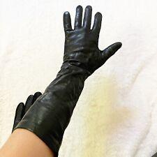 New listing Vintage black long gloves leather