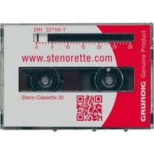 Steno Cassette GRUNDIG Origine 30 Cassette De Dictée Pour. Stenorette 30 mn Neuf