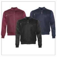 Mens Bomber Varsity Jacket Lightweight Mesh Zip Up Fall Winter Casual Fit