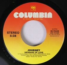 Rock 45 Jorney Message Of Love On Columbia