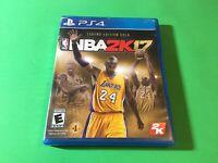 "NBA 2K17: Legend Edition Gold ""Kobe Bryant"" PS4 Playstation 4 Complete"