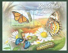 Guinea Bissau 2012 - Schmetterlinge Raupen Butterflies Papillons Lepidoptera **