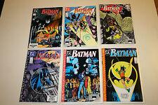 Batman lot#437, 438, 439, 440, 441, 442 Year 3! 1st Tim Drake Robin! Nice Books!