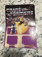 Transformers G1 Decepticons cassette ravage rumble Original Package Board Only