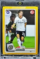 2020 Bowman MLS Brenden Aaronson RC Gold Parallel 2/50 Union, RB Salzburg!!