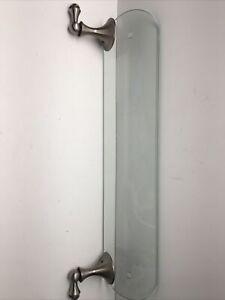 Moen Sage Glass Bathroom Vanity Shelf, Brushed Nickel