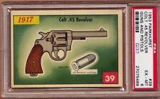1953 Parkhurst GUNS & PISTOLS #39 COLT .45 REVOLVER Scarce PSA 6 EX/MT