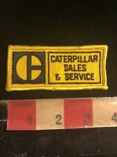Vtg CAT EQUIPMENT CATERPILLAR SALES & SERVICE Advertising Patch 02RK