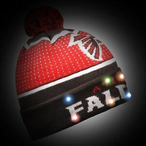 Atlanta Falcons Big Logo Light Up Beanie Winter Hat Toque Cuffed Pom 2018 Knit