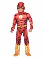 Childs DLX The Flash Superhero Fancy Dress DC Comics Costume Book Week Boys Kids