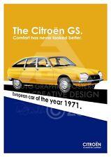 Citroen GS A3 Advert Poster