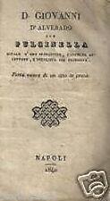 TEATRO NAPOLETANO_FARSA_PULCINELLA_MILANO_NAPOLI 1840_RARA ANTICA EDIZIONE