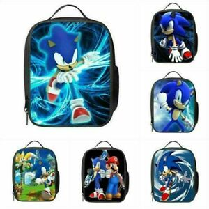 Kids Sonic The Hedgehog Insulated Lunch Bag School Lunchbox Handbag Picnic Box