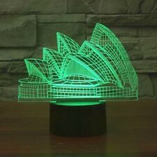 Sydney Opera House 3D Illusion Lamp Home Accent Decoration Piece Art