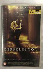 Resurrection Ex-Rental Vintage Big Box VHS Tape English dutch subs
